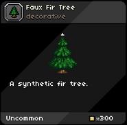 Faux Fir Tree tooltip