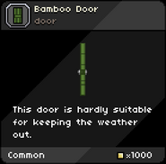 Bamboo Door tooltip