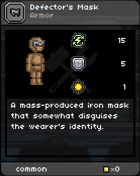 Defector's Mask