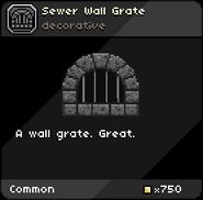 Sewer Wall Grate infobox