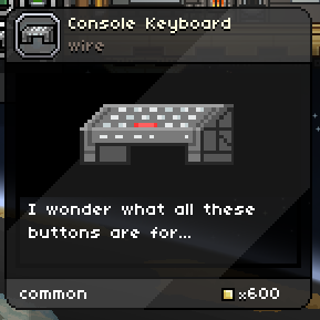 Console Keyboard
