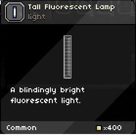 Tall fluorescent lamp tooltip