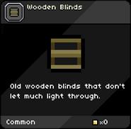 Wooden Blinds tooltip
