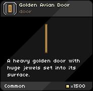 Golden Avian Door tooltip
