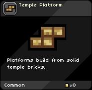 Temple Platform tooltip