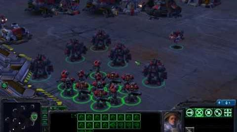Starcraft 2 Beta - Marines and Marauders Dancing and Cheering