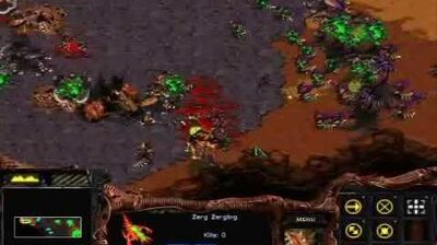 Starcraft Brood War - Zerg Mission 4 The Liberation of Korhal