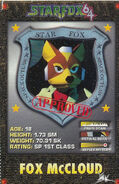 SF64 Fox Class Card Nintendo Power