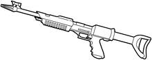 SF laser rifle