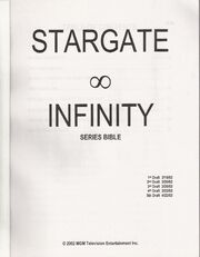 Stargate Infinity Series Bible