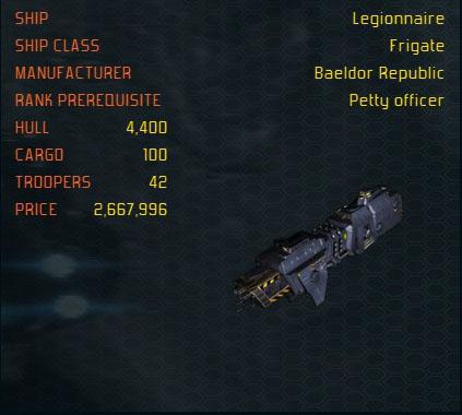Legionnaire ship