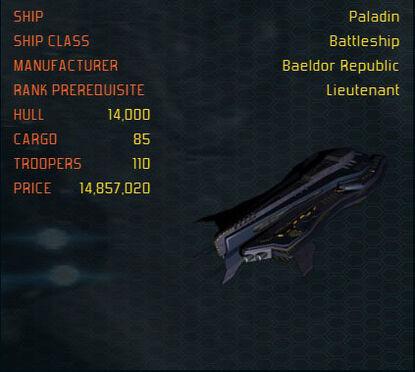 Paladin ship