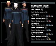 SF cadet service uniform