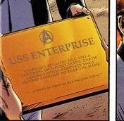 Enterprise A dedication plaque DC Comics