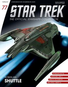 Romulan shuttle, Official Starships Collection 77