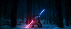 Kylo Ren duels Rey