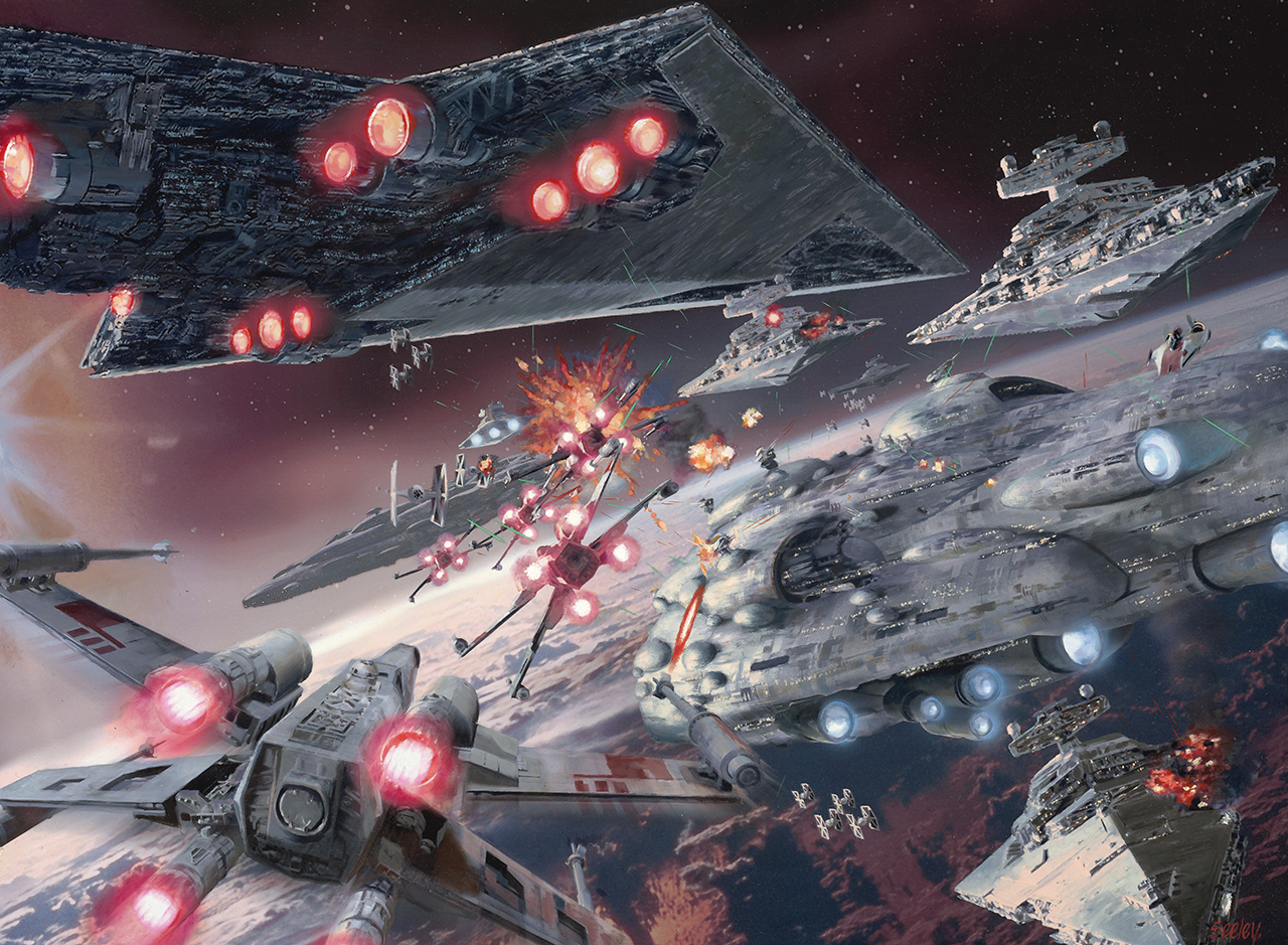Image result for star wars space battle
