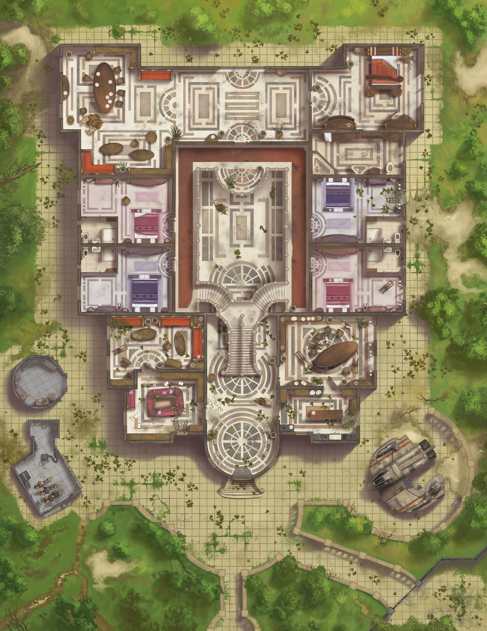 Image narek manor wookieepedia fandom for Manor floor plans