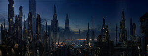 Coruscant at night