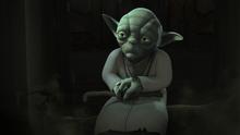 Yoda in the Lothal Jedi Temple