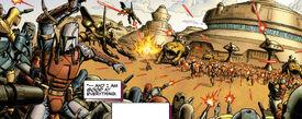 Mando Wars battle