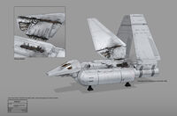 Gathering Forces Imperial Shuttle Concept Art