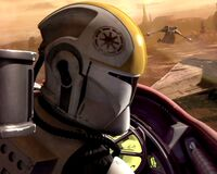 Clone trooper pilot