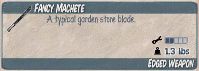 Fancy Machete