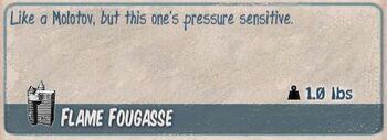 Flame fougasse