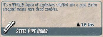 Steel pipe bomb