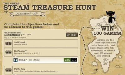 Steam treasure hunt
