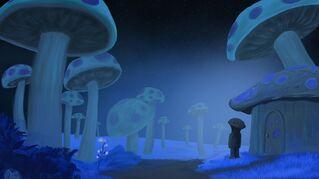 Terraria CardArt Glowing Mushrooms