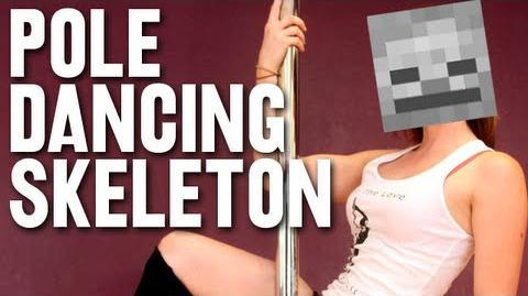 Pole Dancing Skeleton
