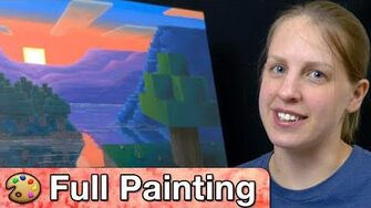 """Minecraft- """"Dusk Squared"""" Painting (Full Version)"""