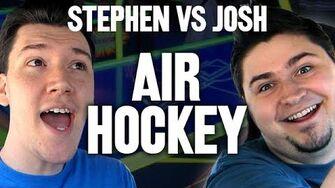 StephenPlays VS JoshJepson - AIR HOCKEY