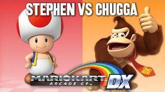 StephenPlays VS Chuggaaconroy - Mario Kart Arcade GP DX