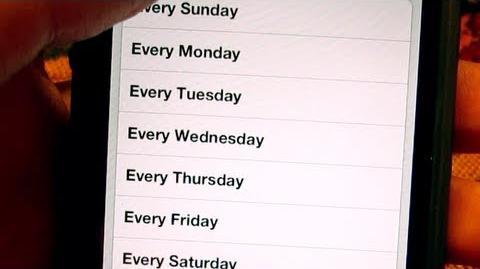 Weekdays Alarm (Day 1383 - 9 7 13)