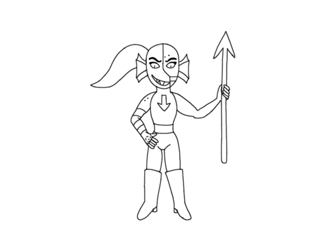 File:Storyshift Undyne by Asriel Dreemurr (Goat Boy).png