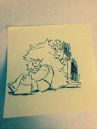 Amethyst & Pearl sketch 03