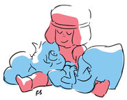 Ruby and Sapphire drawing by Rebecca Sugar