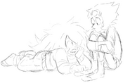 Amethyst & Pearl sketch 02