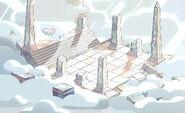 Steven the Swordfighter Cloud Temple Background