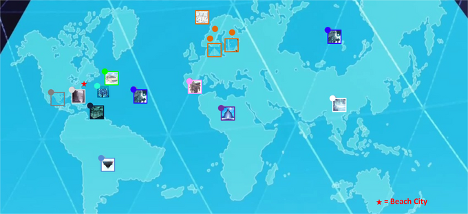 GEM PLACES IN EARTH MAP