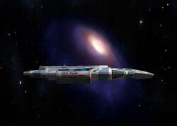 USS Avenger Sideview