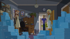 """S1 E11 Fin says nervously """"Housekeeping"""""""