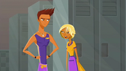 """S1 E8 Fin tells Reef """"No way. There was a rock band on my floor"""""""
