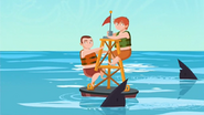 S1 E14 Mark and Todd are trapped on a buoy
