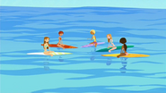 S1 E7 Tropical Tan models on their surf lesson with Fin