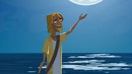 """S1 E16 The Kahuna says """"Good night, Fluffy. Fluffy go sleep with the fishes now"""""""