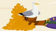 S2 E1 Seagull sitting on Broseph